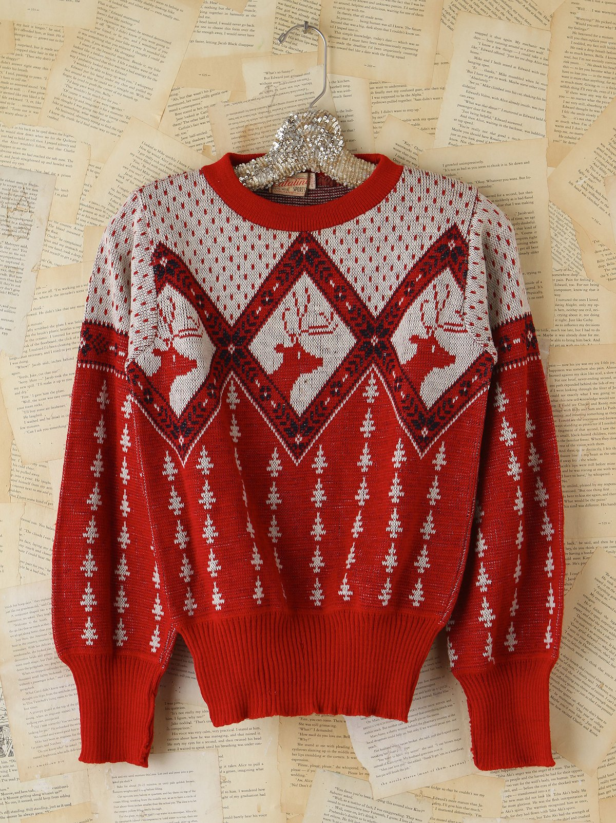 Vintage Red Holiday Sweater