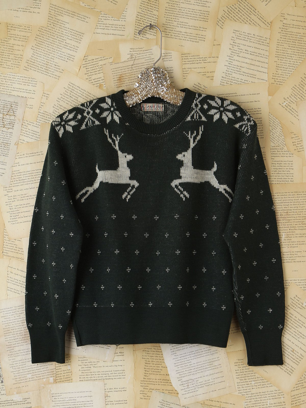 Vintage Green Holiday Sweater