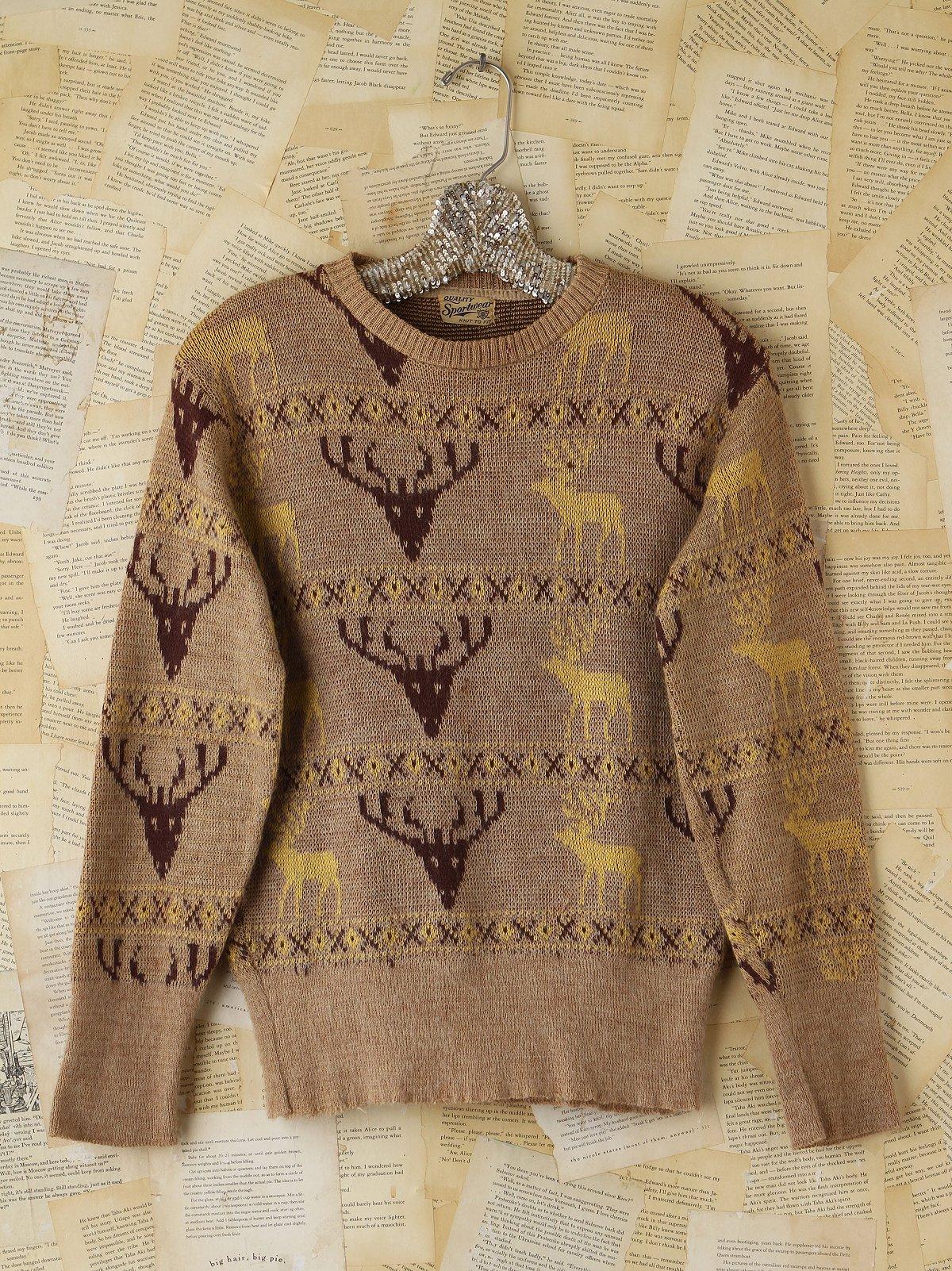 Vintage Reindeer Holiday Sweater