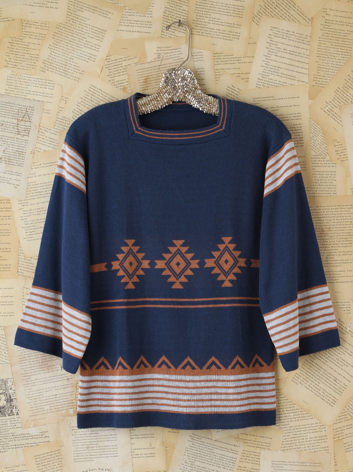 Vintage Blue Holiday Sweater