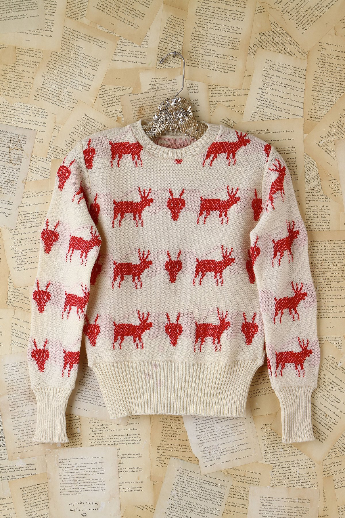 Vintage Red Deer Sweater