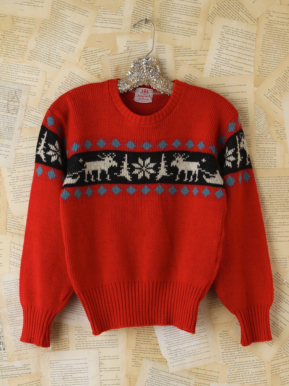 Vintage Deer Holiday Sweater