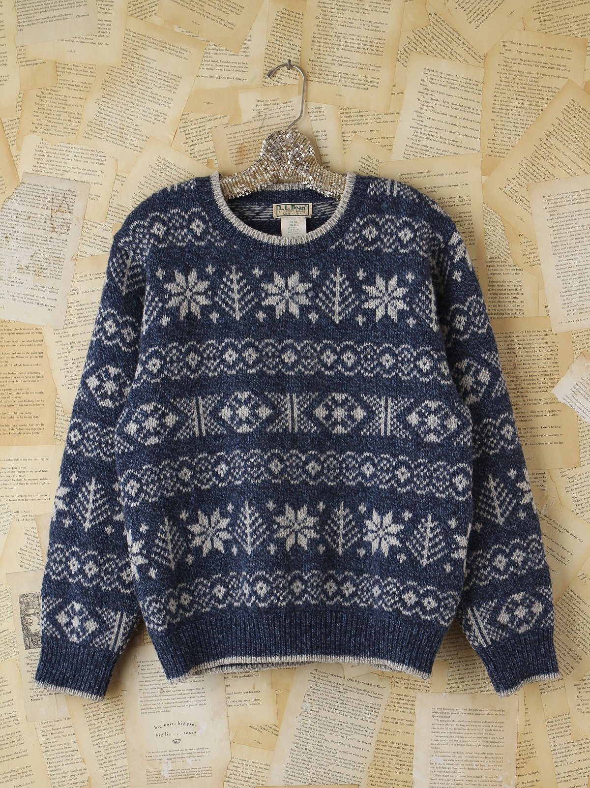 Vintage Snowflake Holiday Sweater