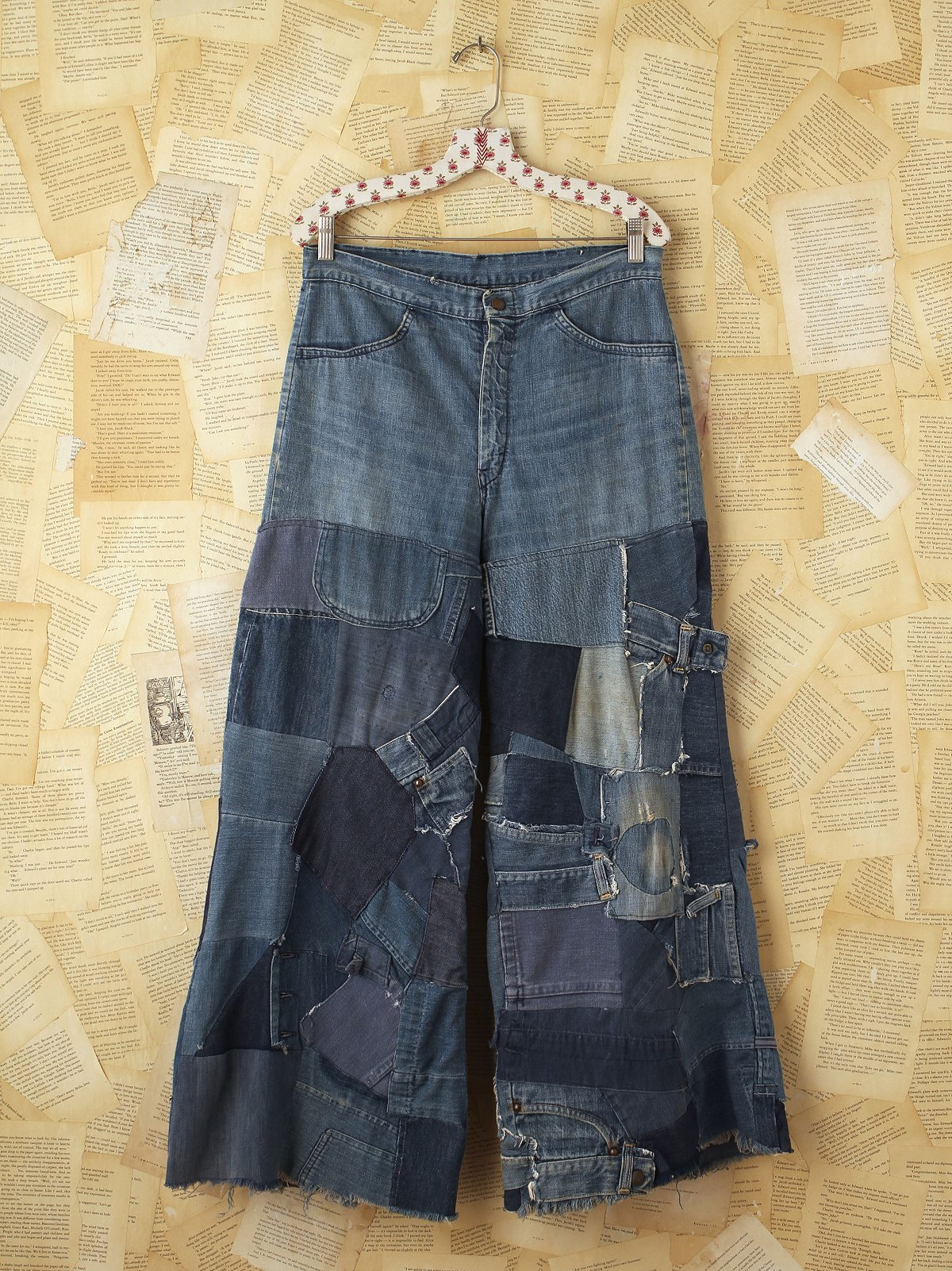 Vintage Patchwork Denim Flares