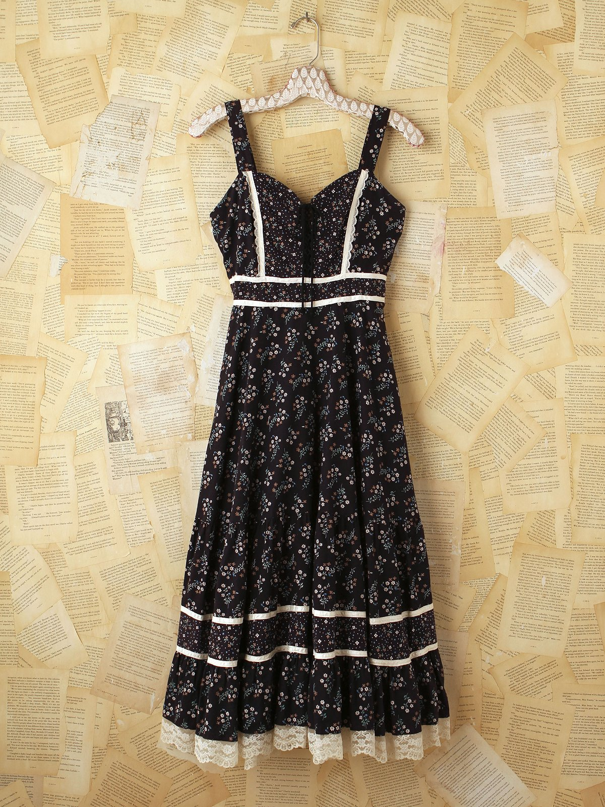 Vintage Gunne Sax Black Dress