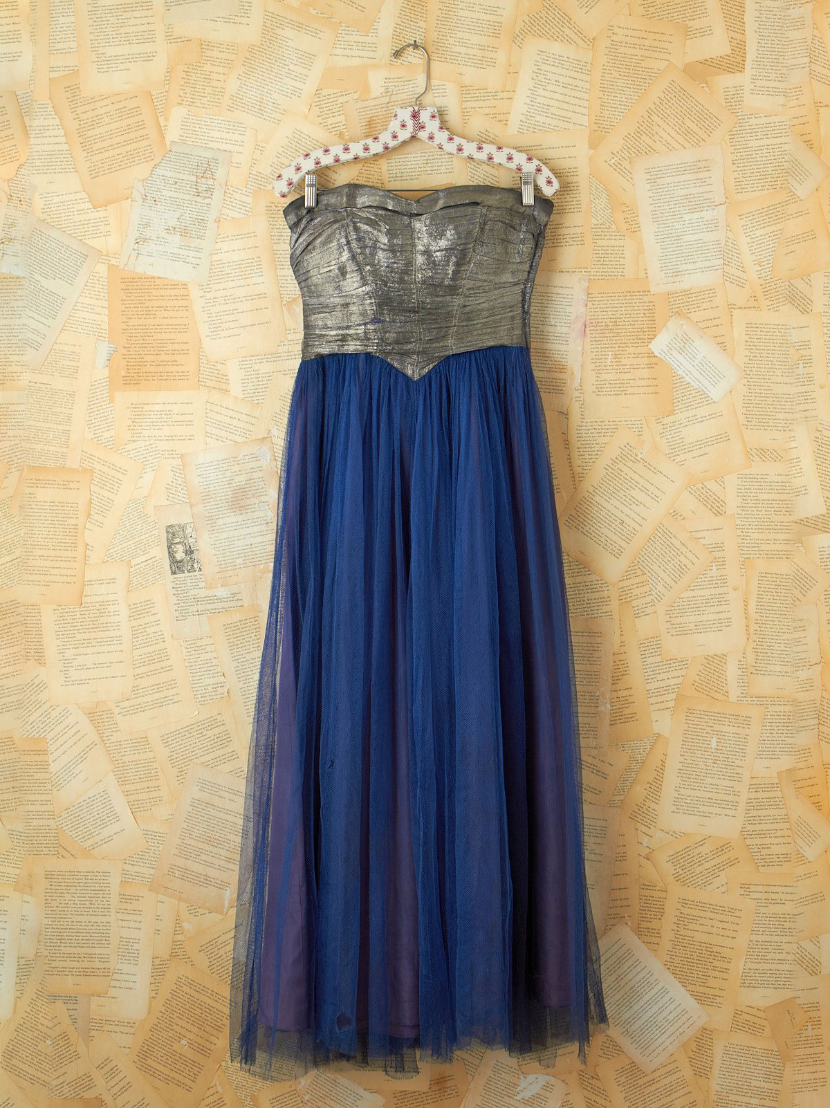 Vintage Blue Tulle Party Dress