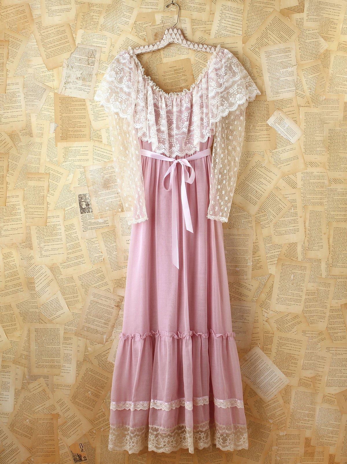 Vintage 1970s Prairie Dress