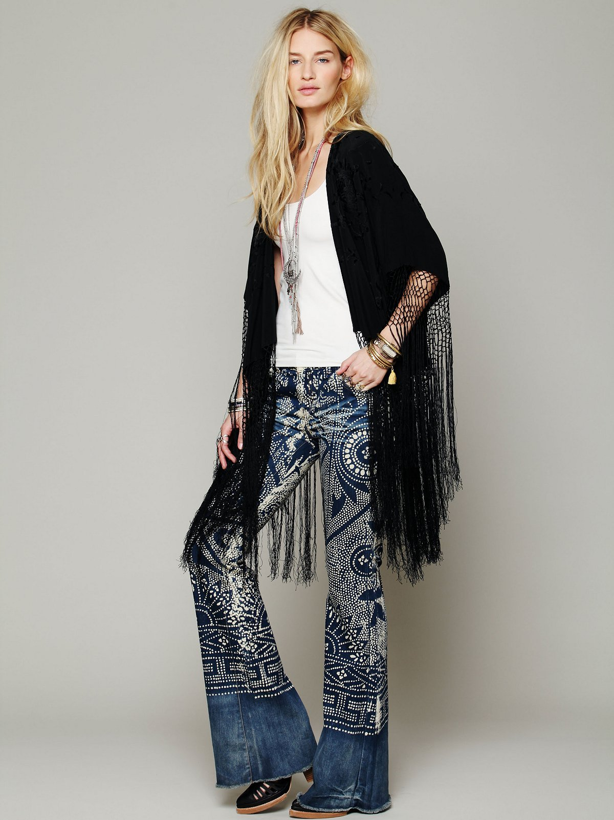 Headed West Embroidered Poncho