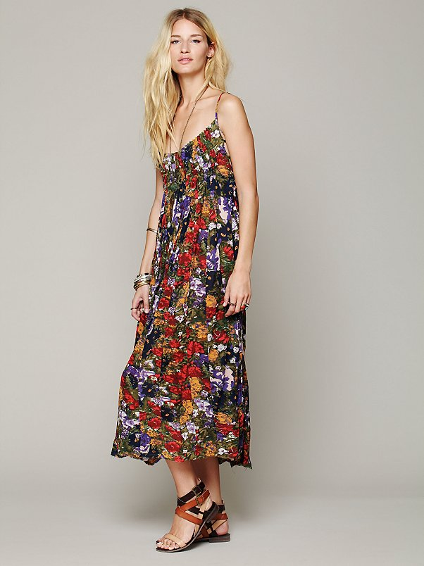 FP ONE Criss Cross Florals Maxi Dress