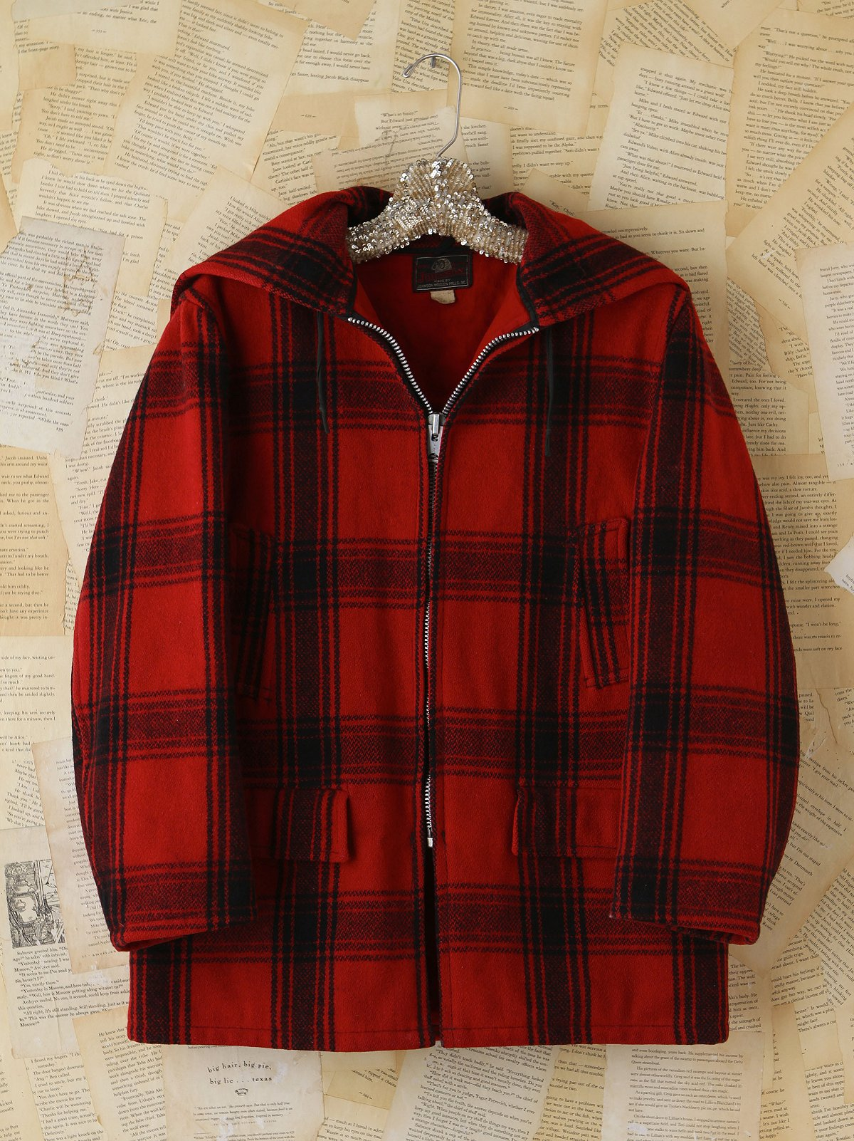 Vintage Wool Plaid Coat