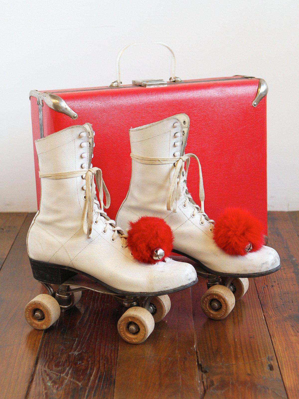 Vintage Rollerskates with Case