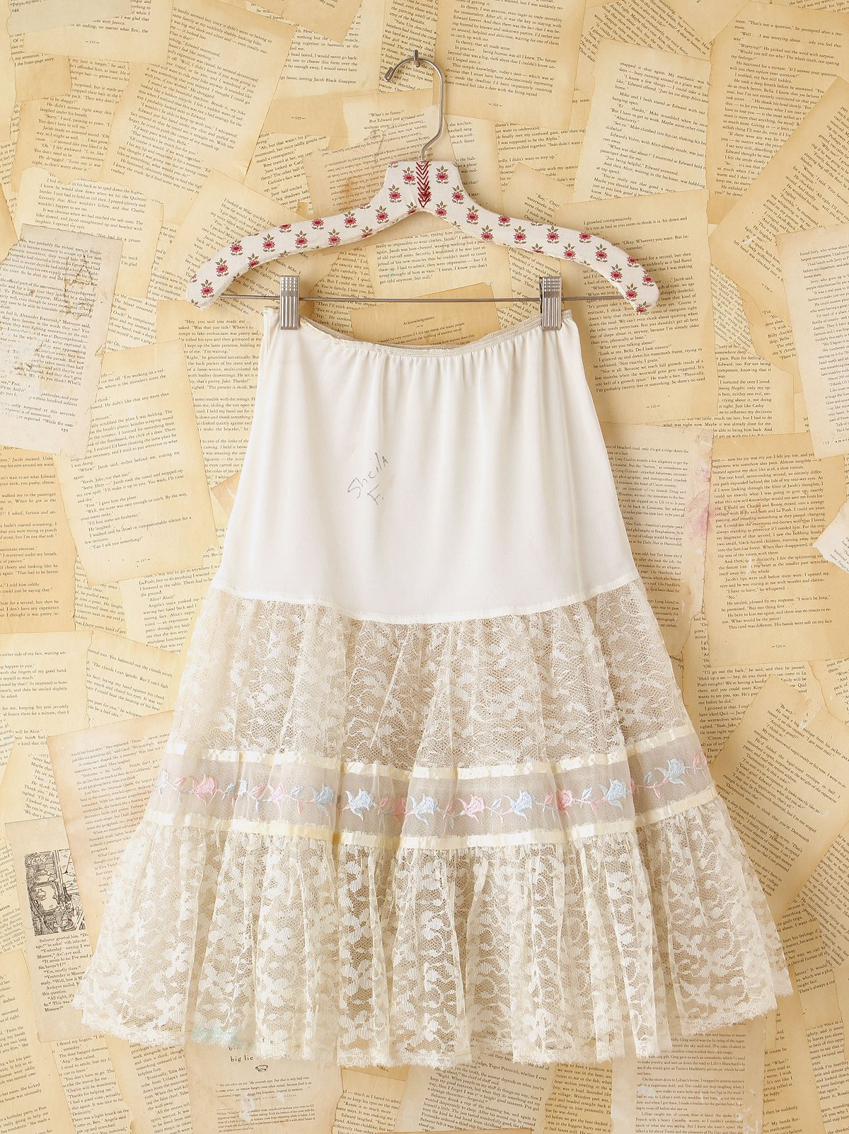 Vintage White Tulle Skirt