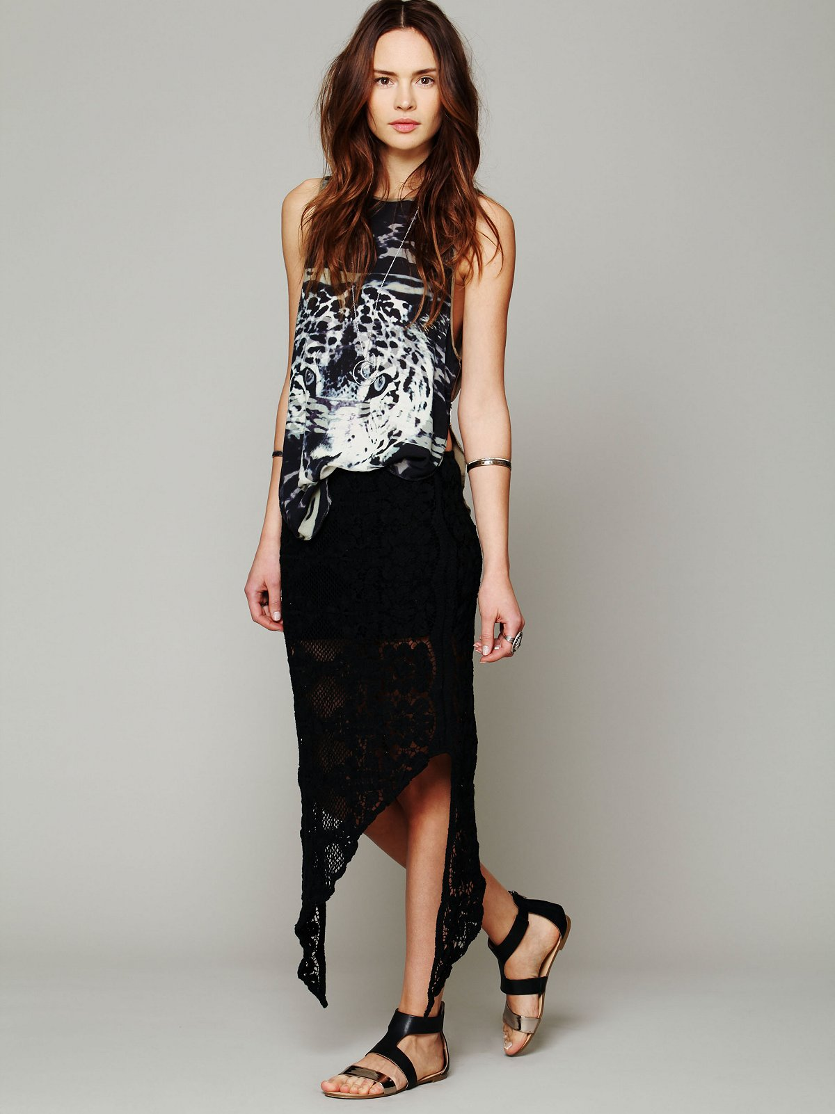 Skinny Love Crochet Lace Skirt