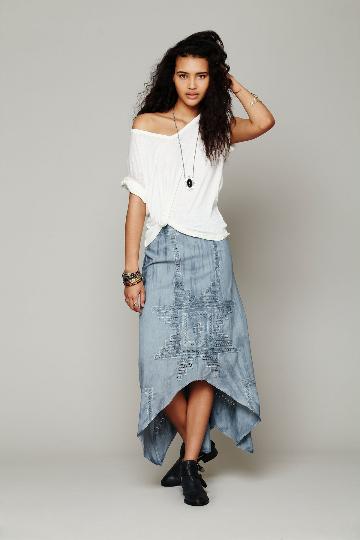 Back And Forth Cutout Skirt