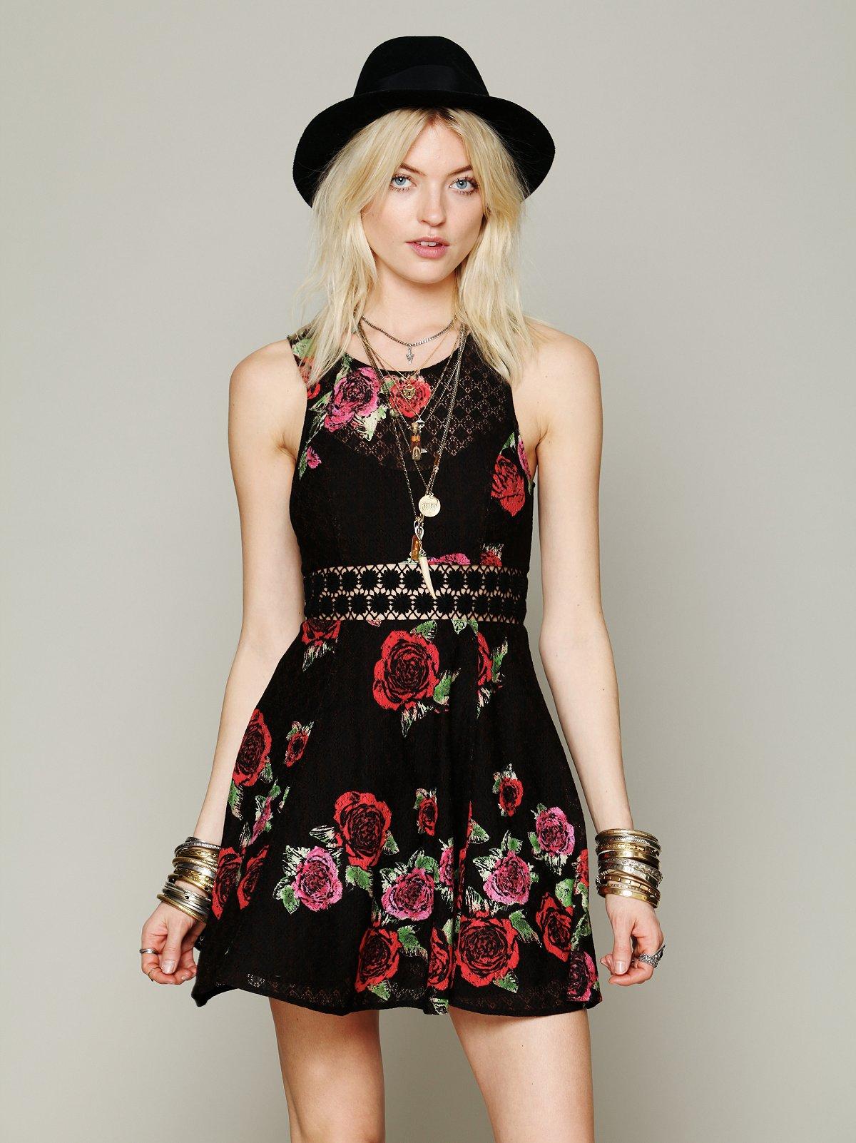 Daisy Waist Print Dress
