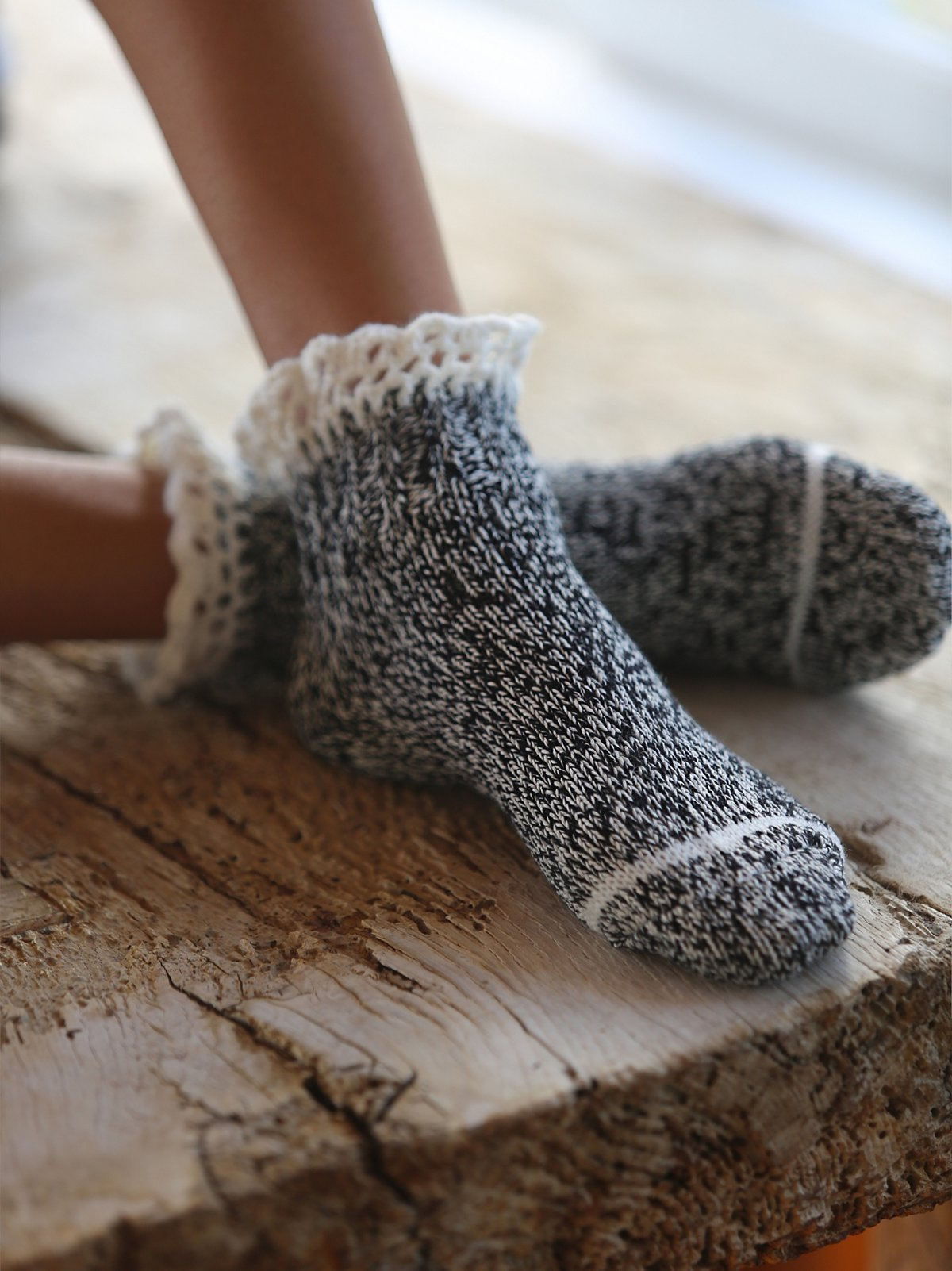 Highland混色短靴袜