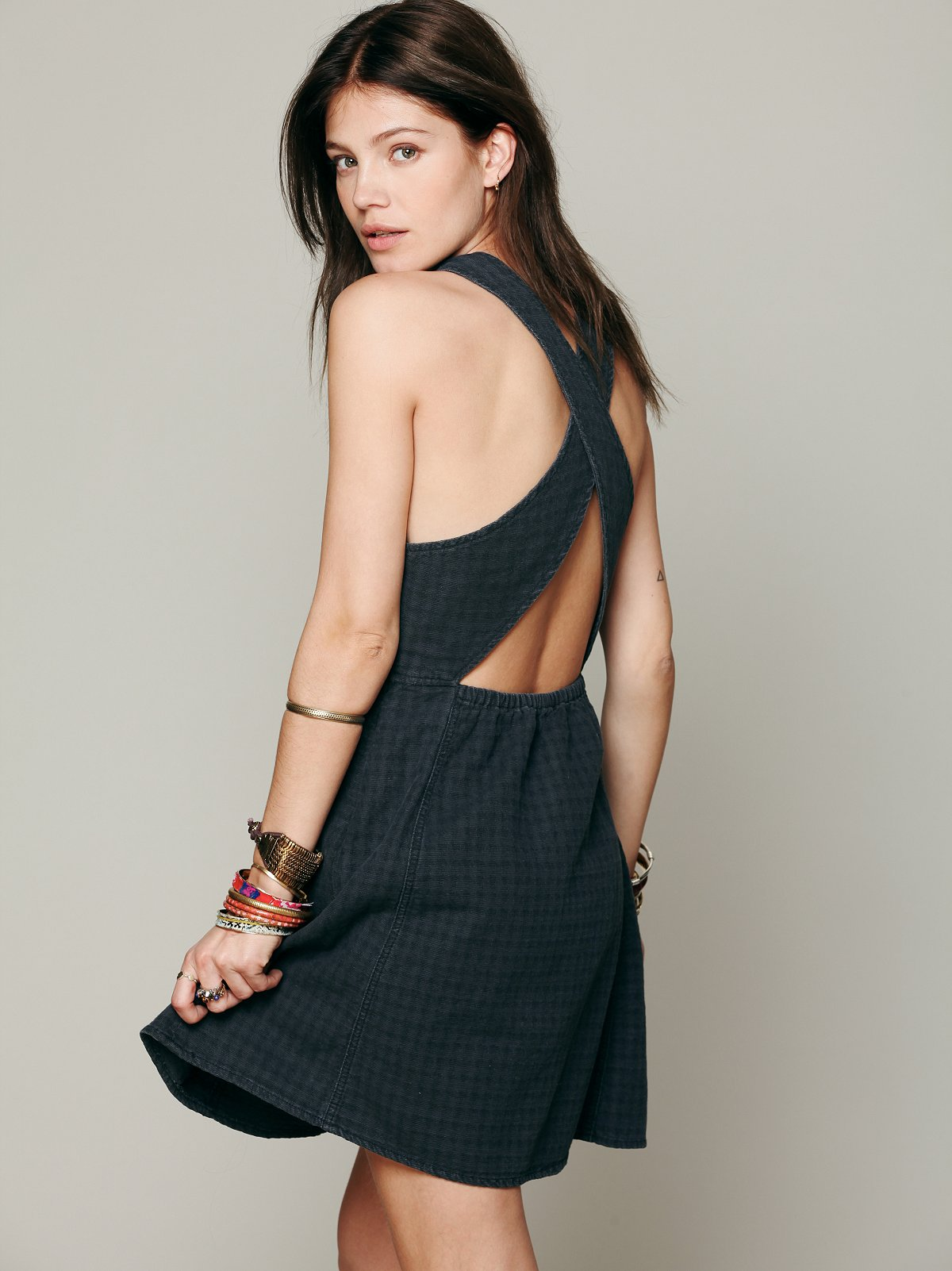 Cross Back Dress