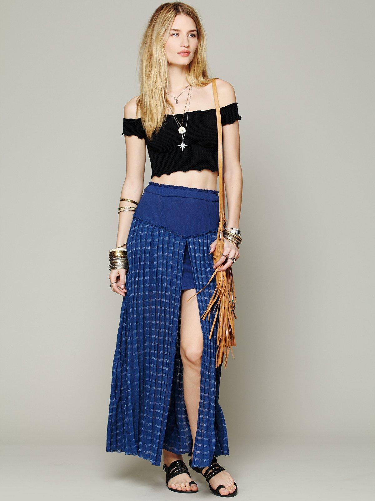 Back Chat Maxi Skirt