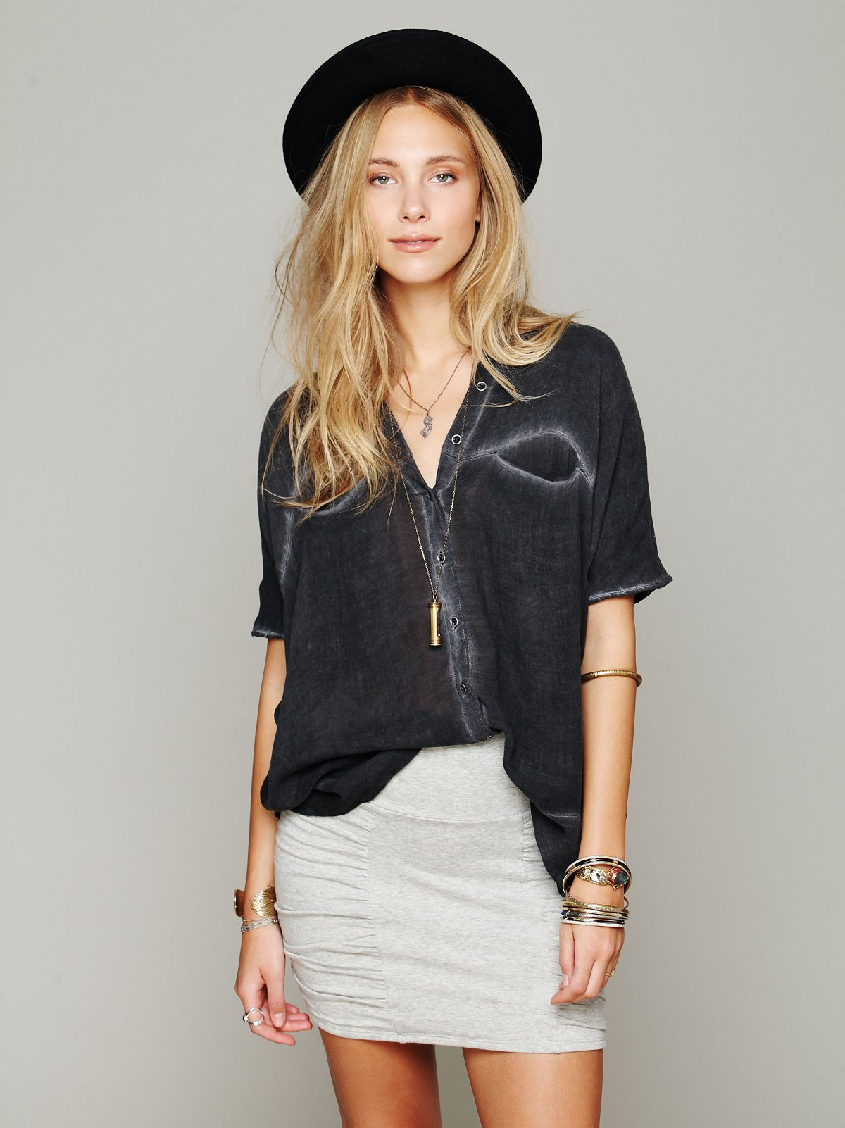 Oversize Button Down