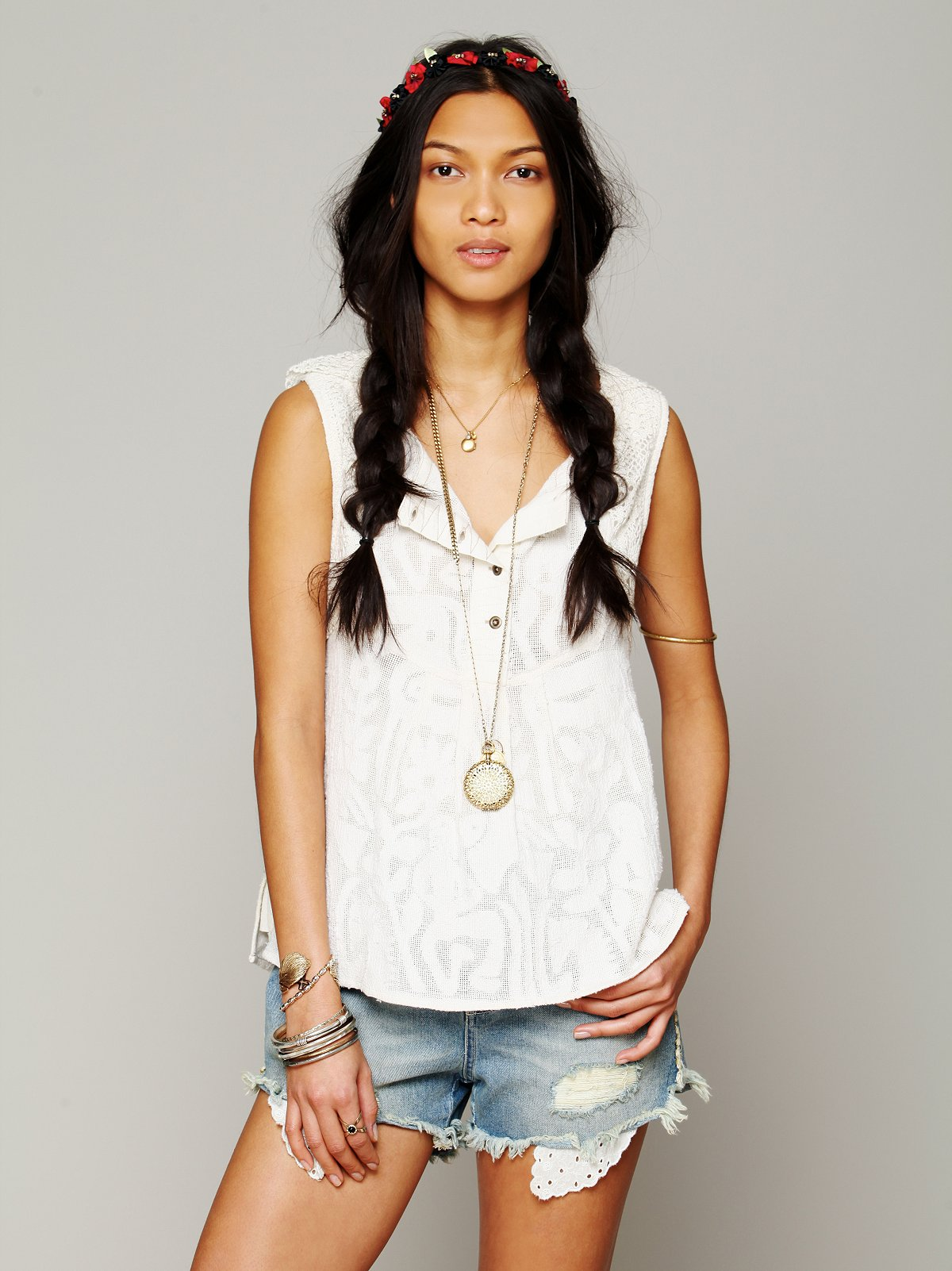 FP New Romantic Sleeveless Texture Tank