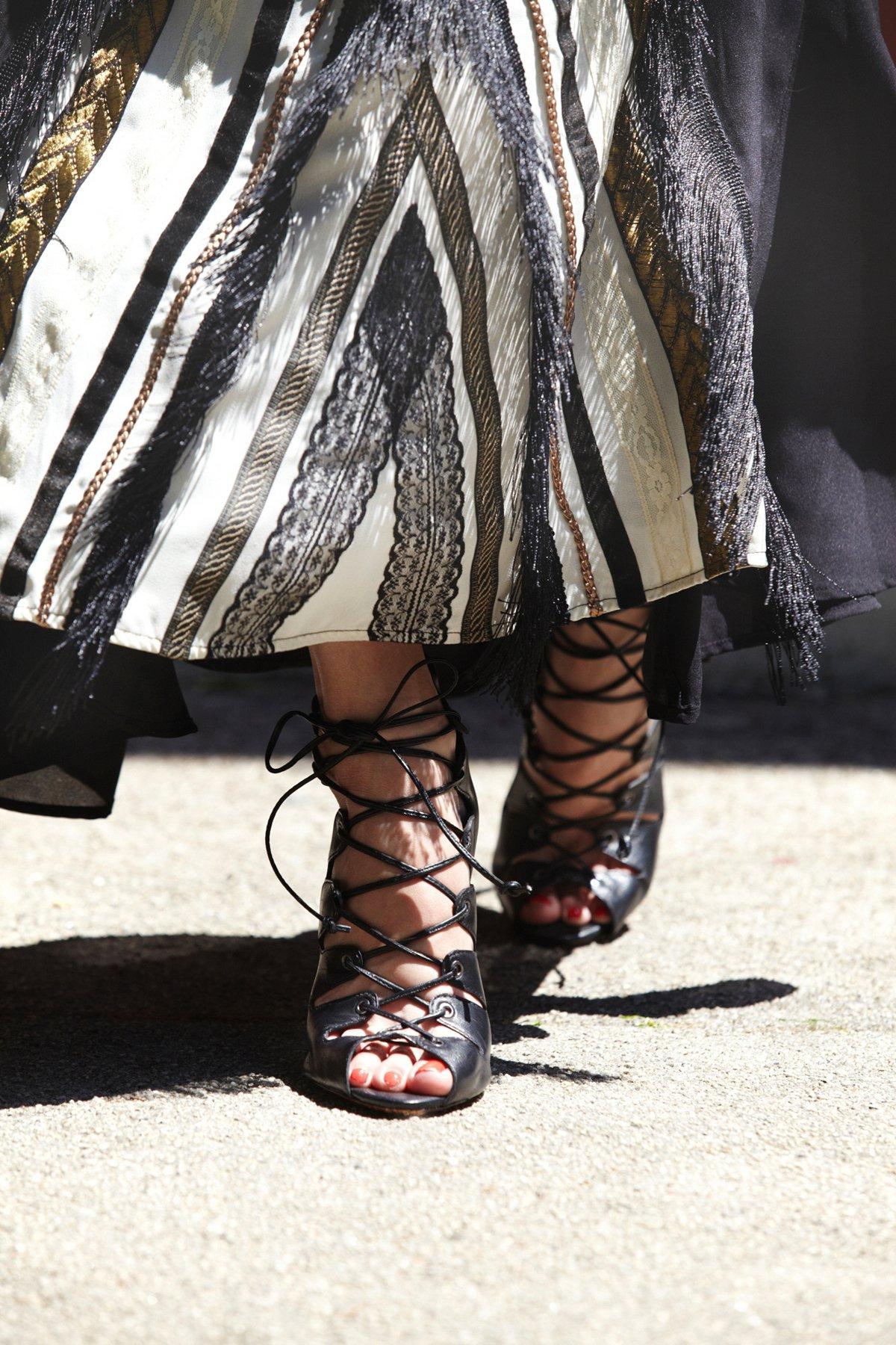 Slate Lace Up Heel