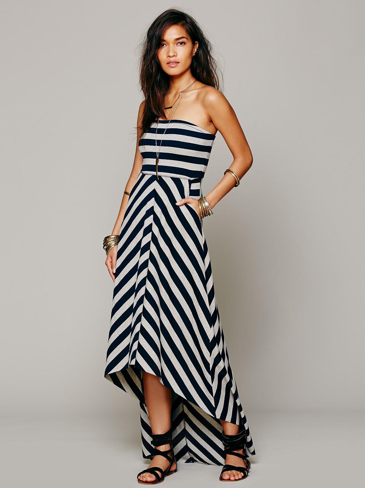 Kristal's Striped Maxi