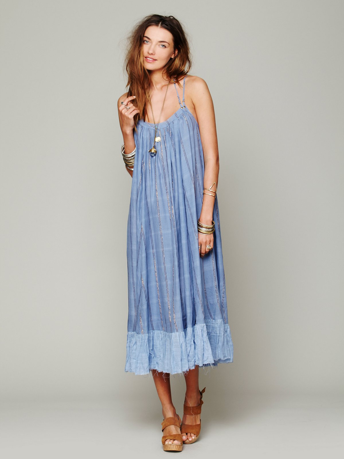 Criss Cross Stripe Maxi