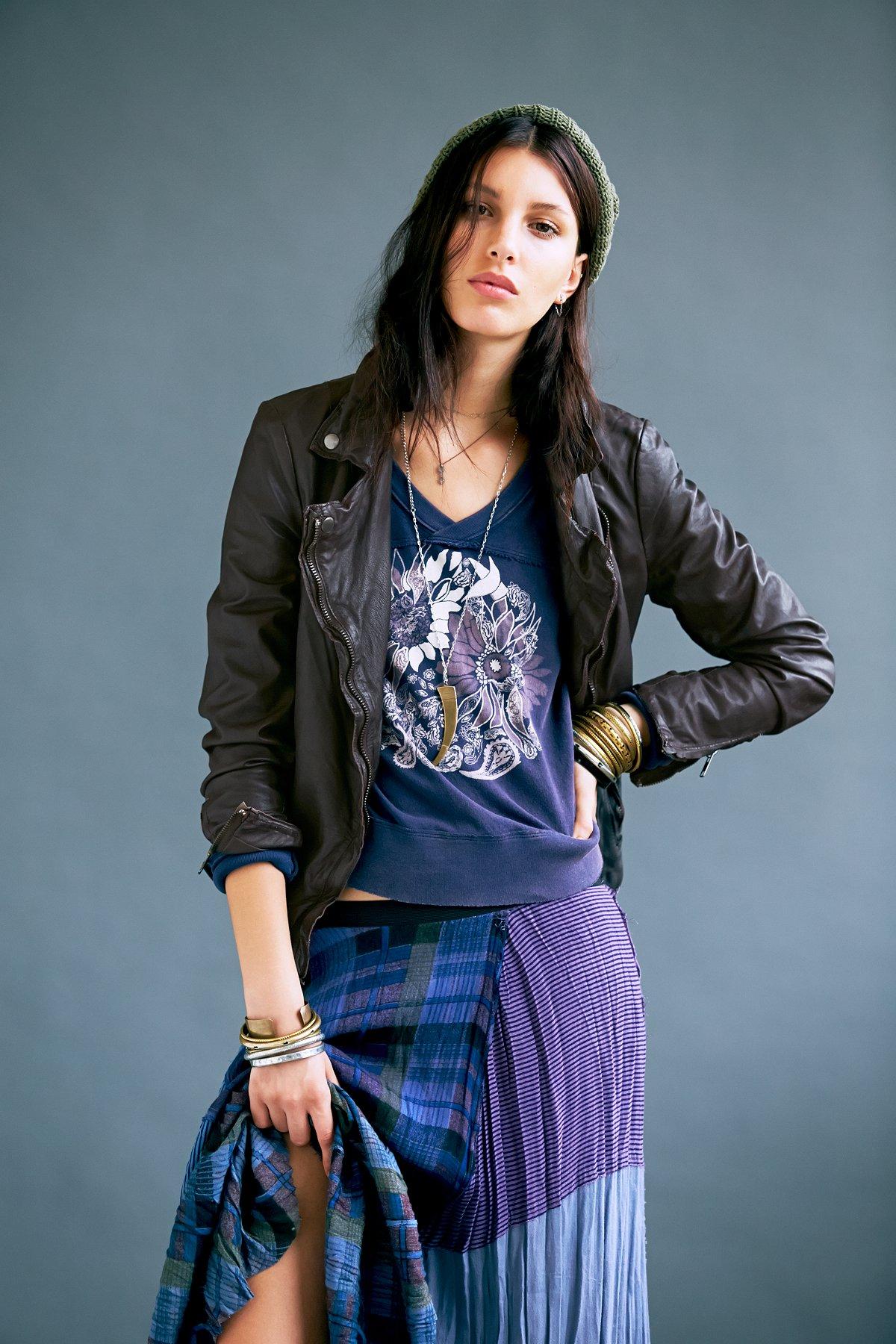 Dark Brown Biker Jacket