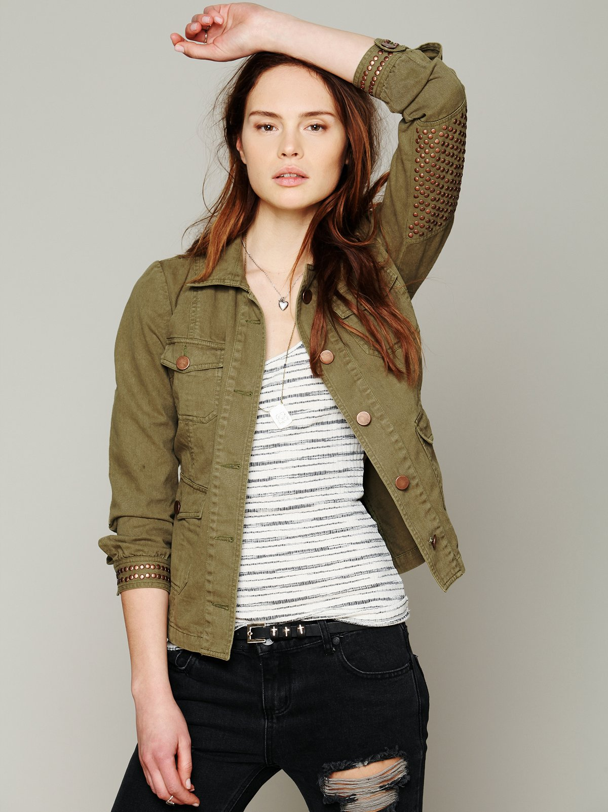 Studded Elbow Jacket