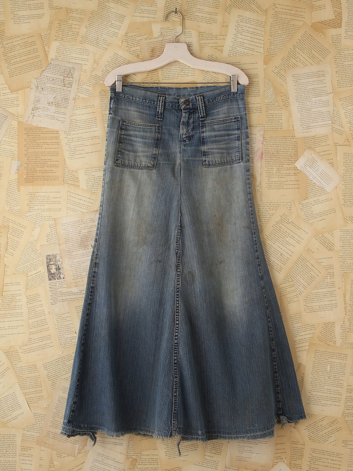 Vintage 1960s Denim Patchwork Skirt