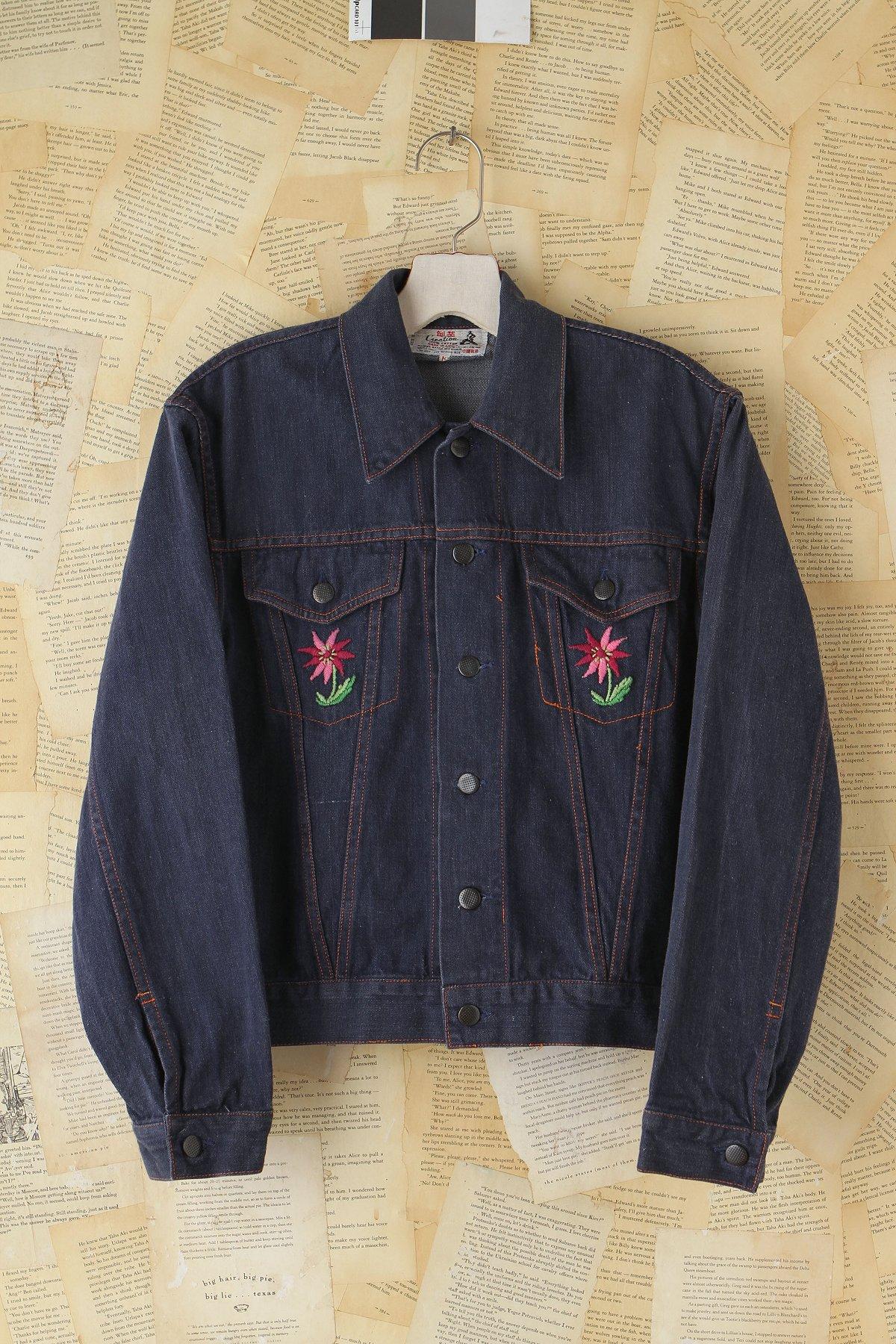 Vintage embroidered denim jacket at free people clothing