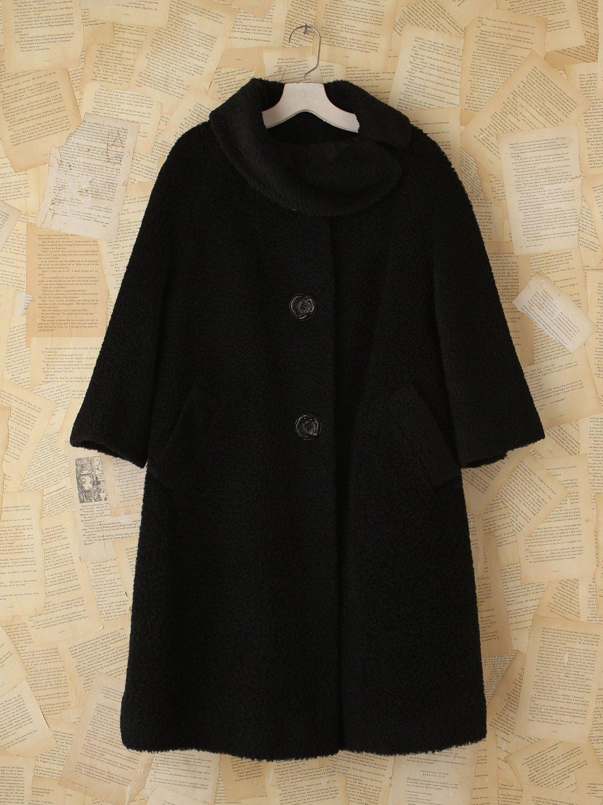 Vintage Black Nubby Jacket