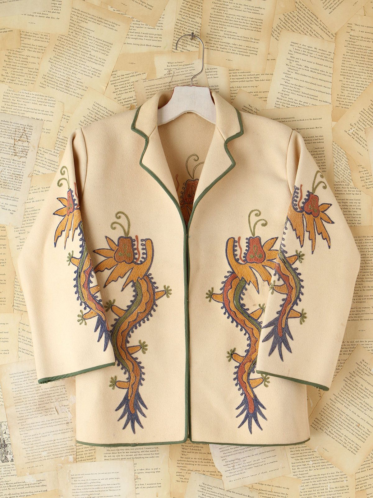 Vintage Embroidered Brushed Wool Jacket