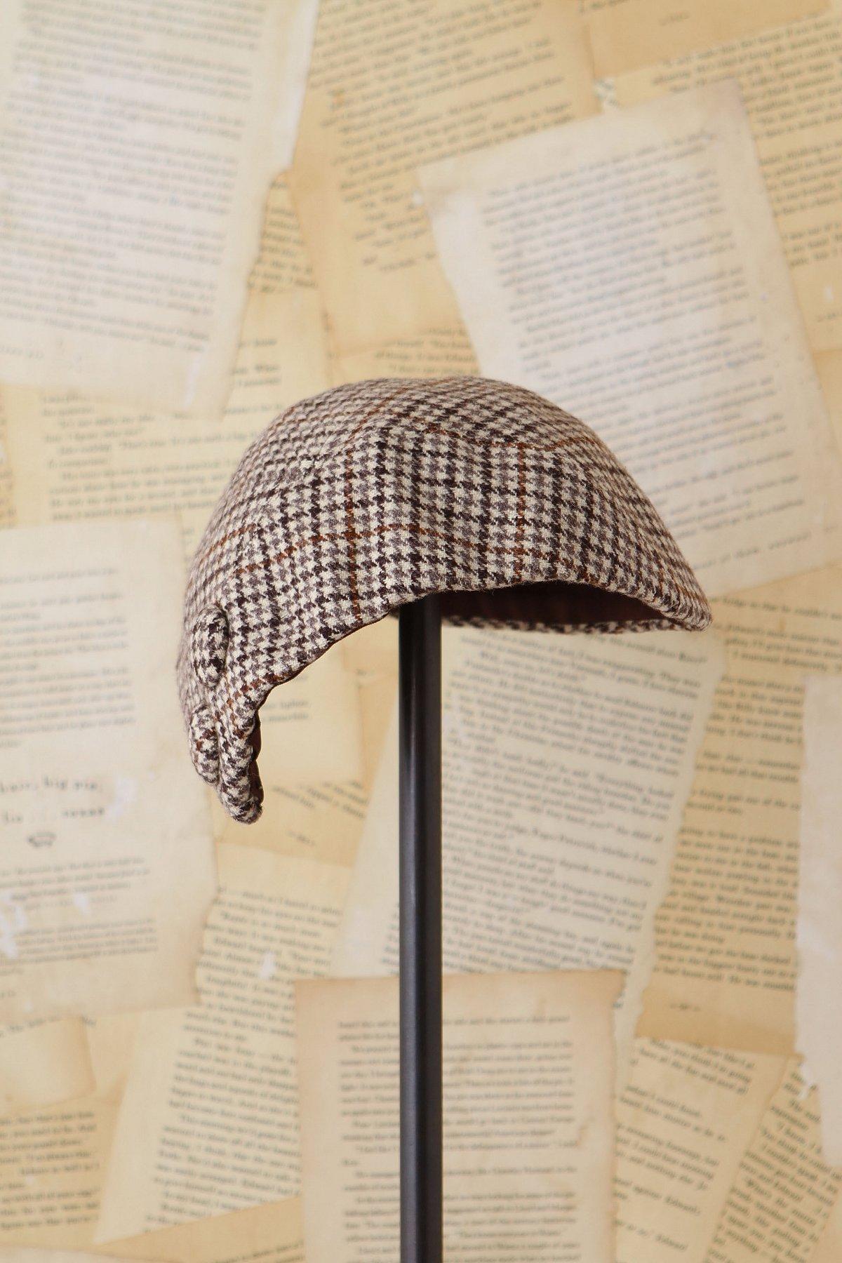 Vintage Wool Houdstooth Cap