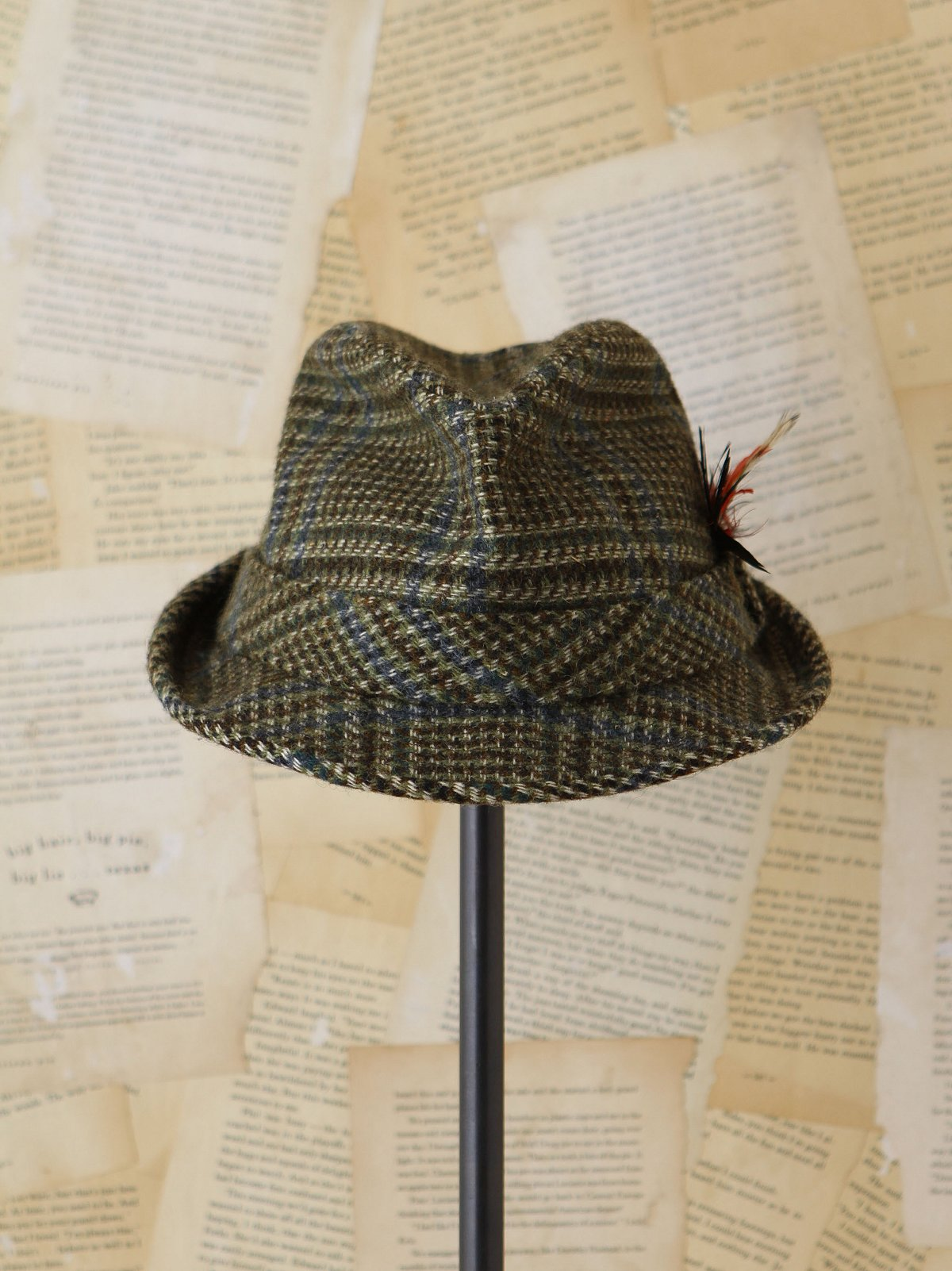 Vintage Elmer Fudd Plaid Hat