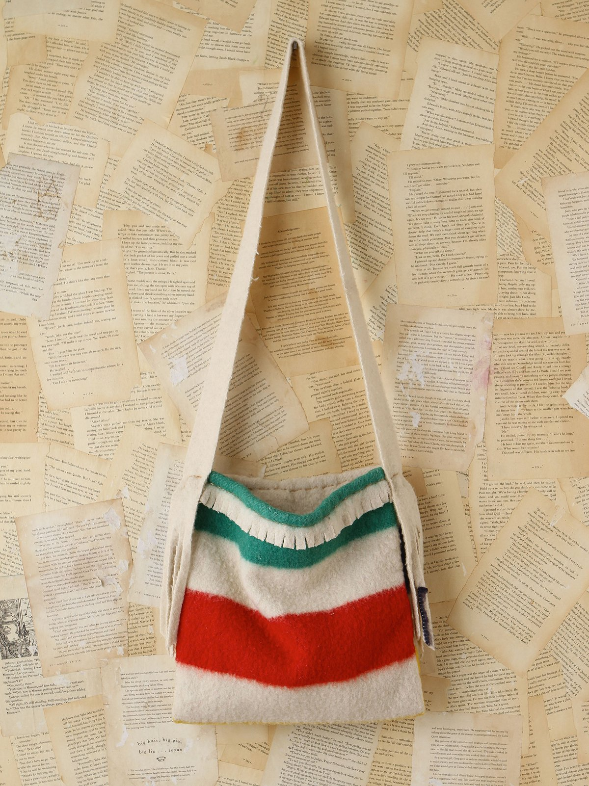 Vintage Striped Wool Bag