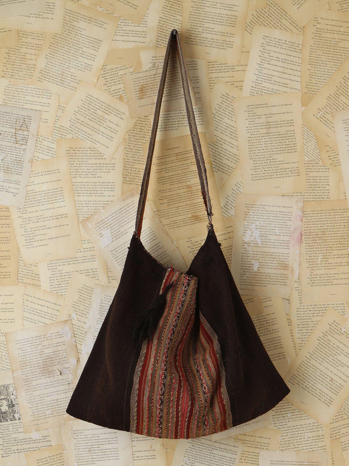 Vintage Striped Woven Bag