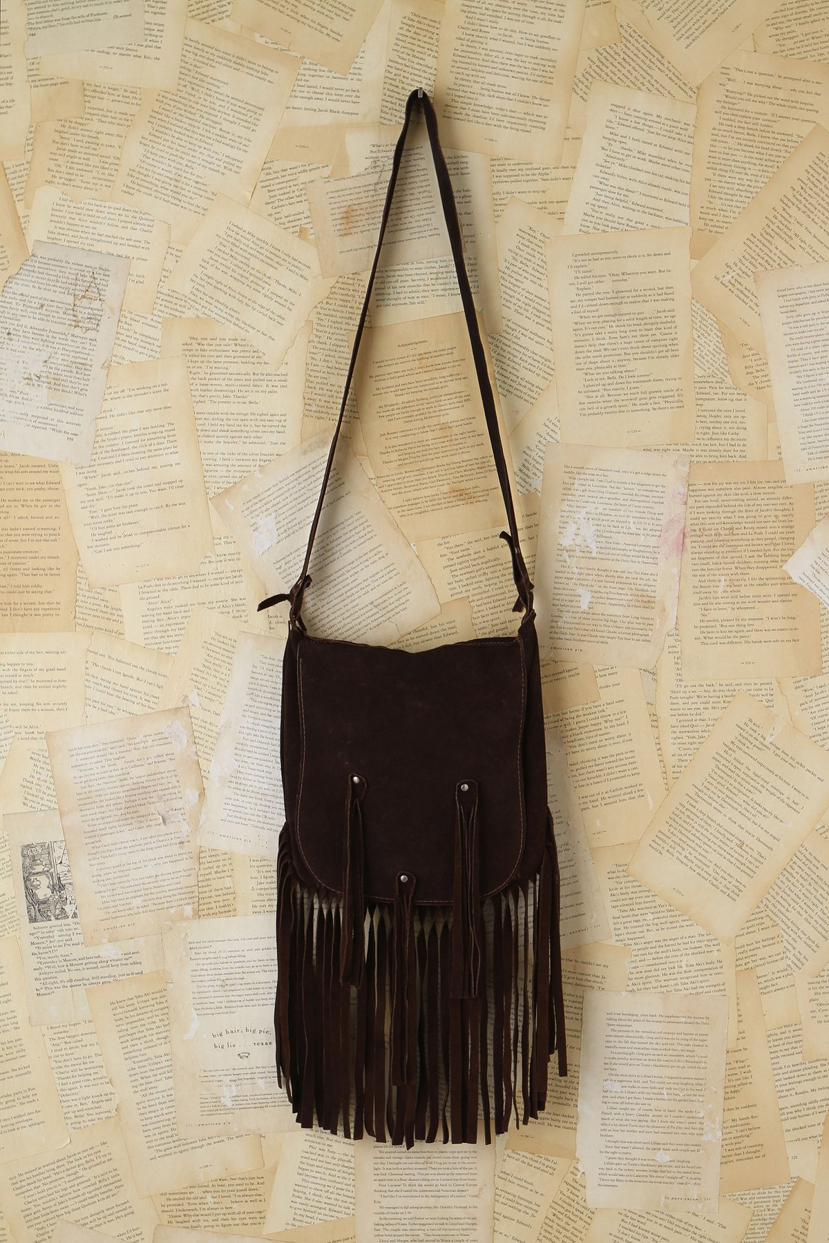 Vintage Fringe Suede Bag