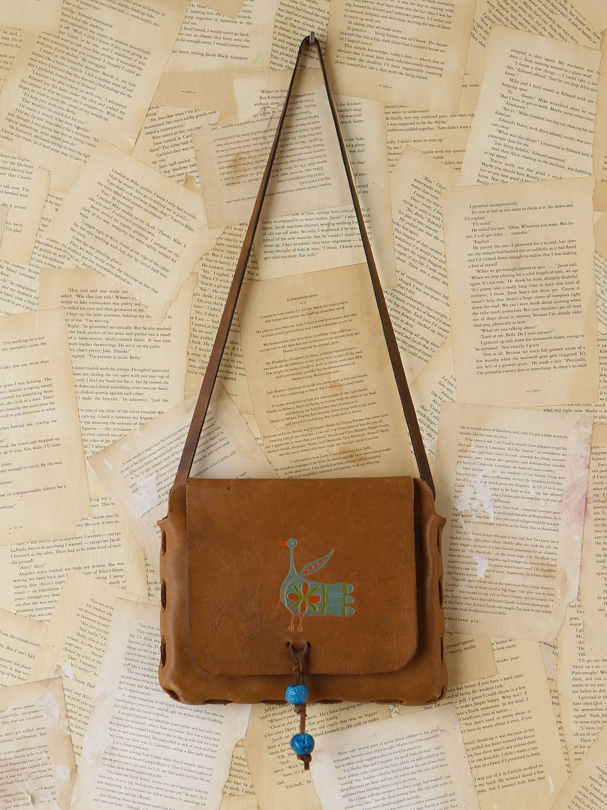 Vintage Painted Leather Bag