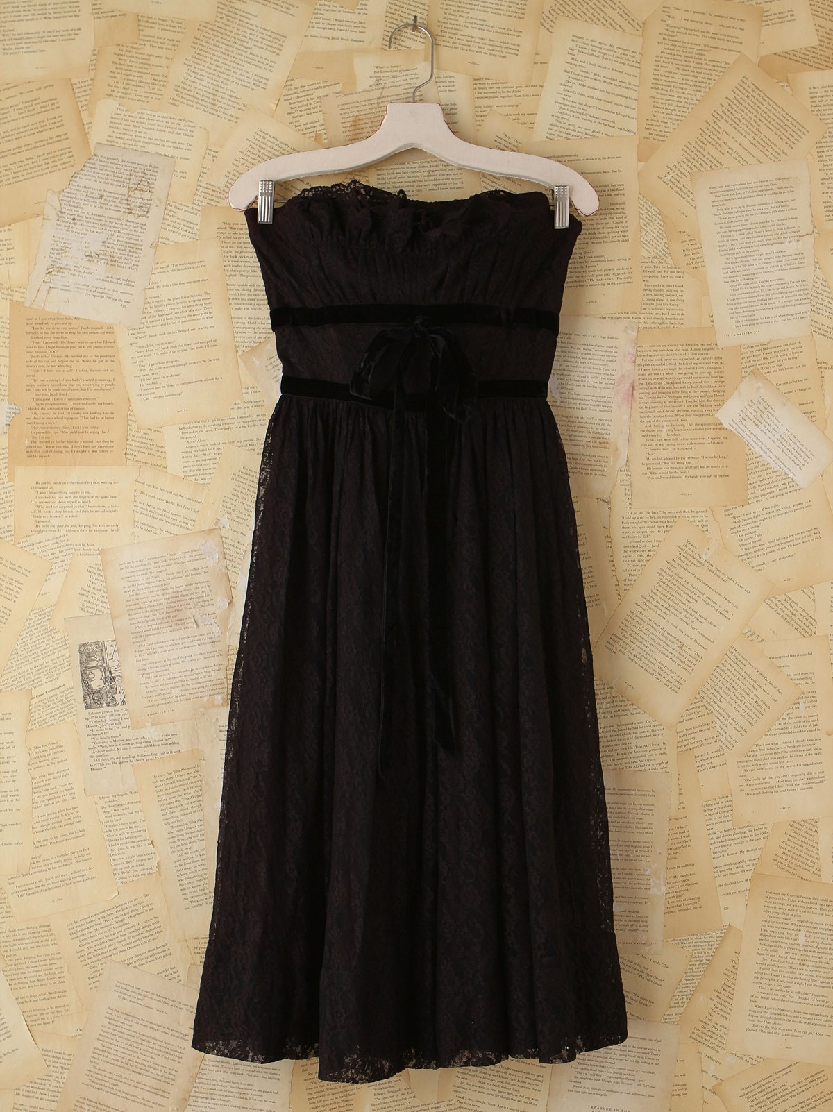 Vintage Black Lace Party Dress