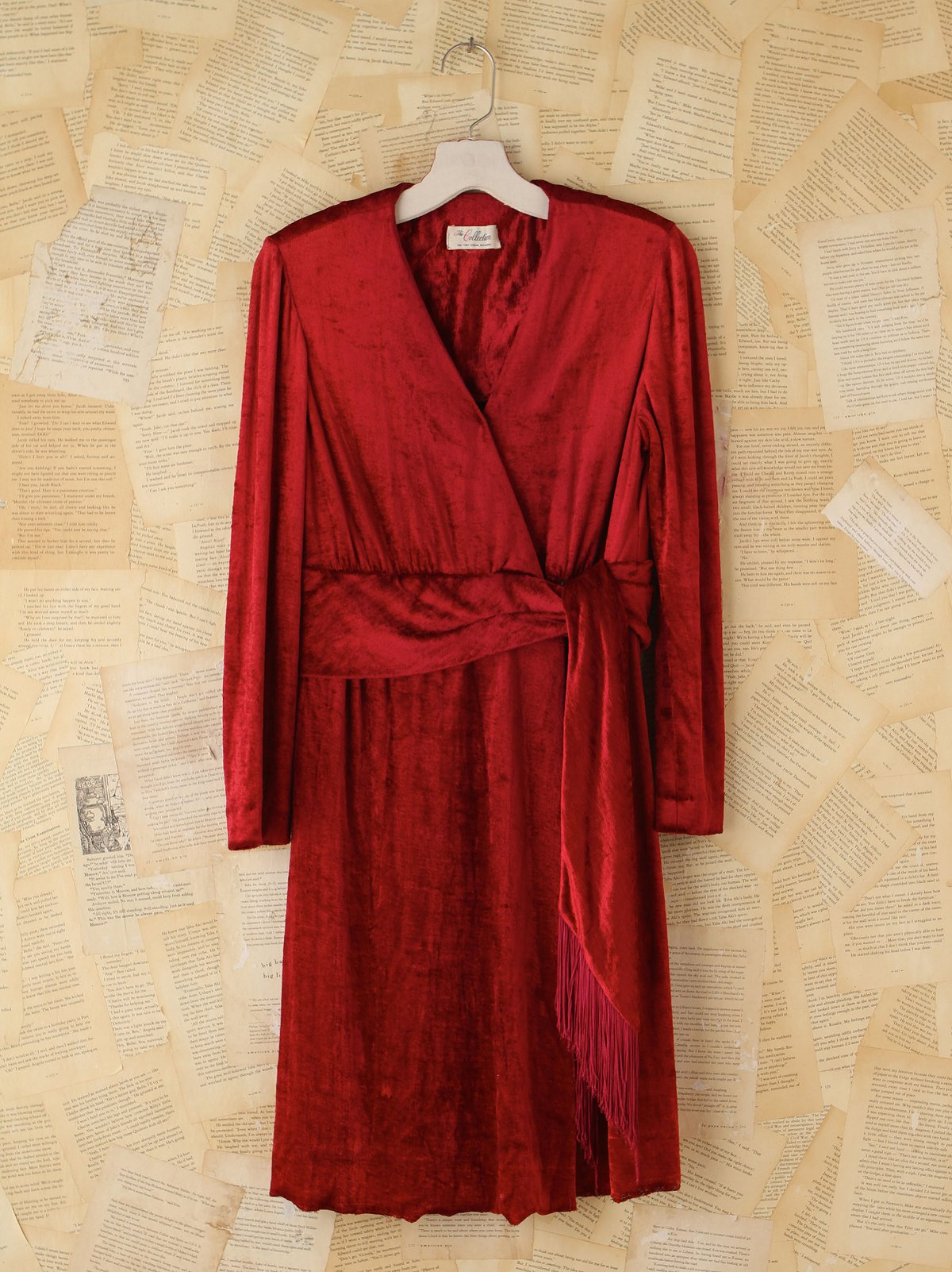 Vintage Crimson Velvet Dress