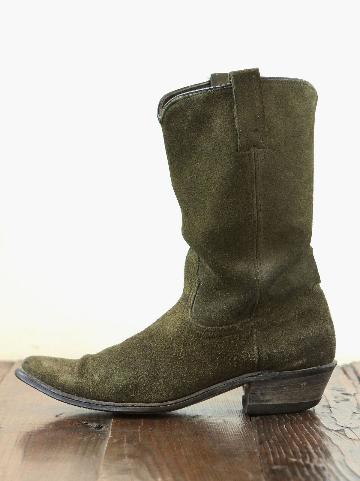 Vintage Suede Tall Boots