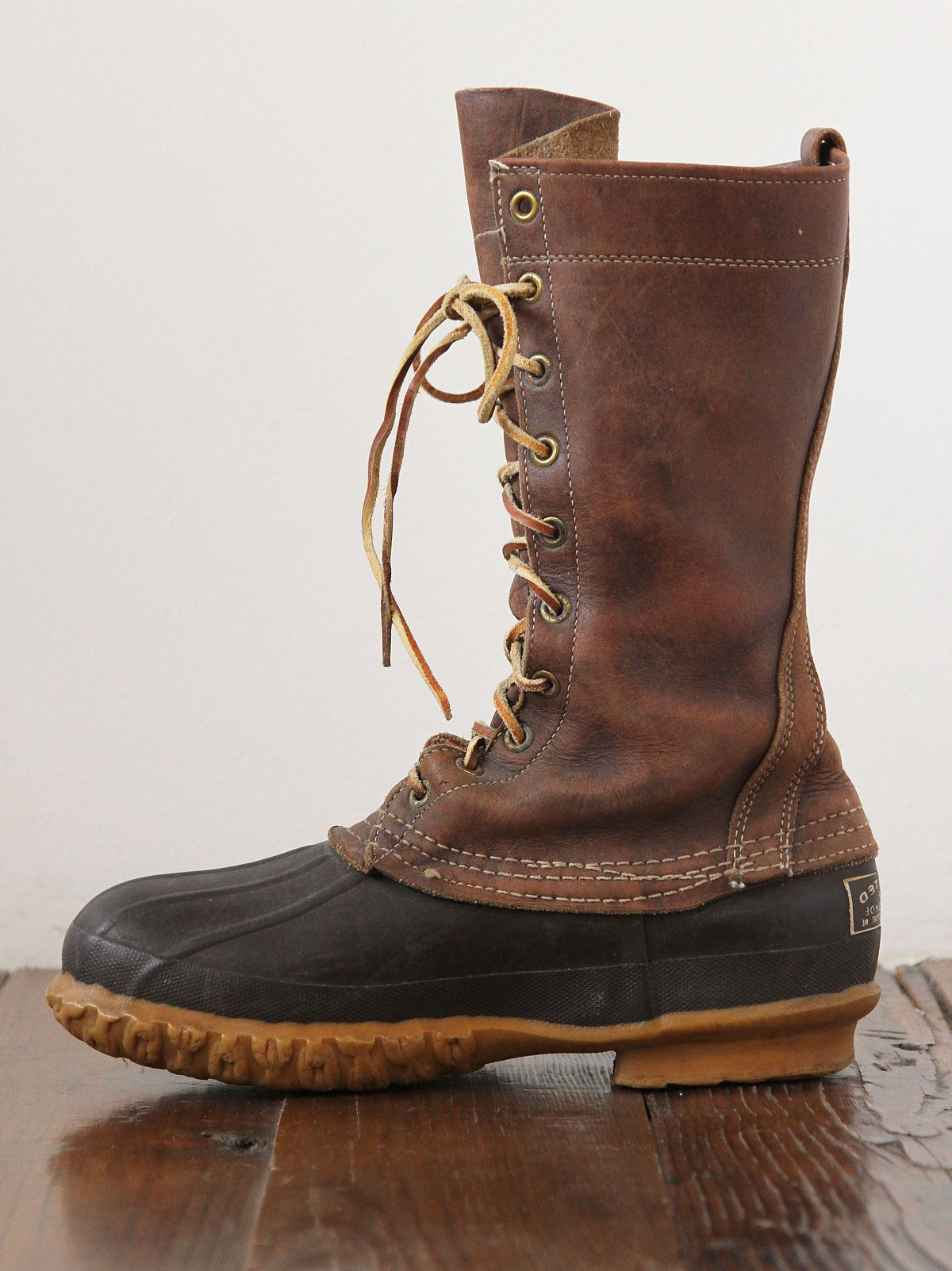 Vintage Leather Duck Boots