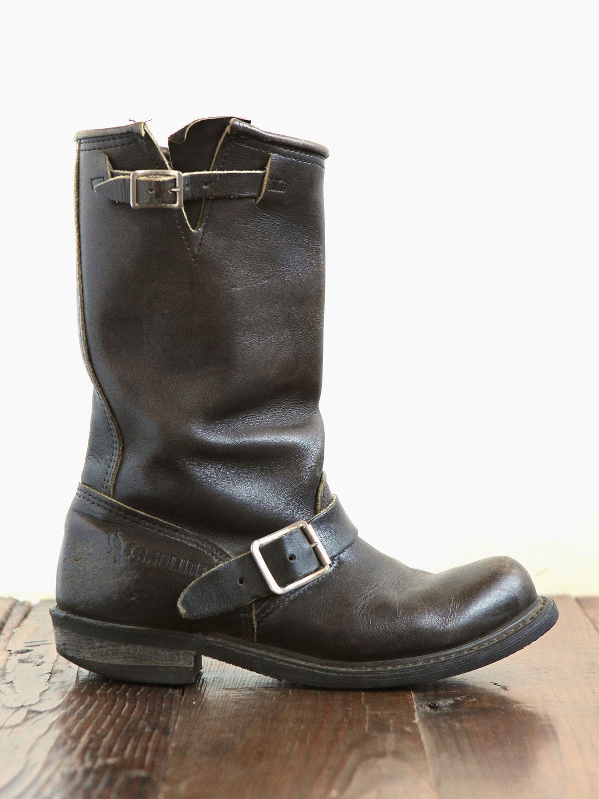 Vintage Leather Engineer Boots