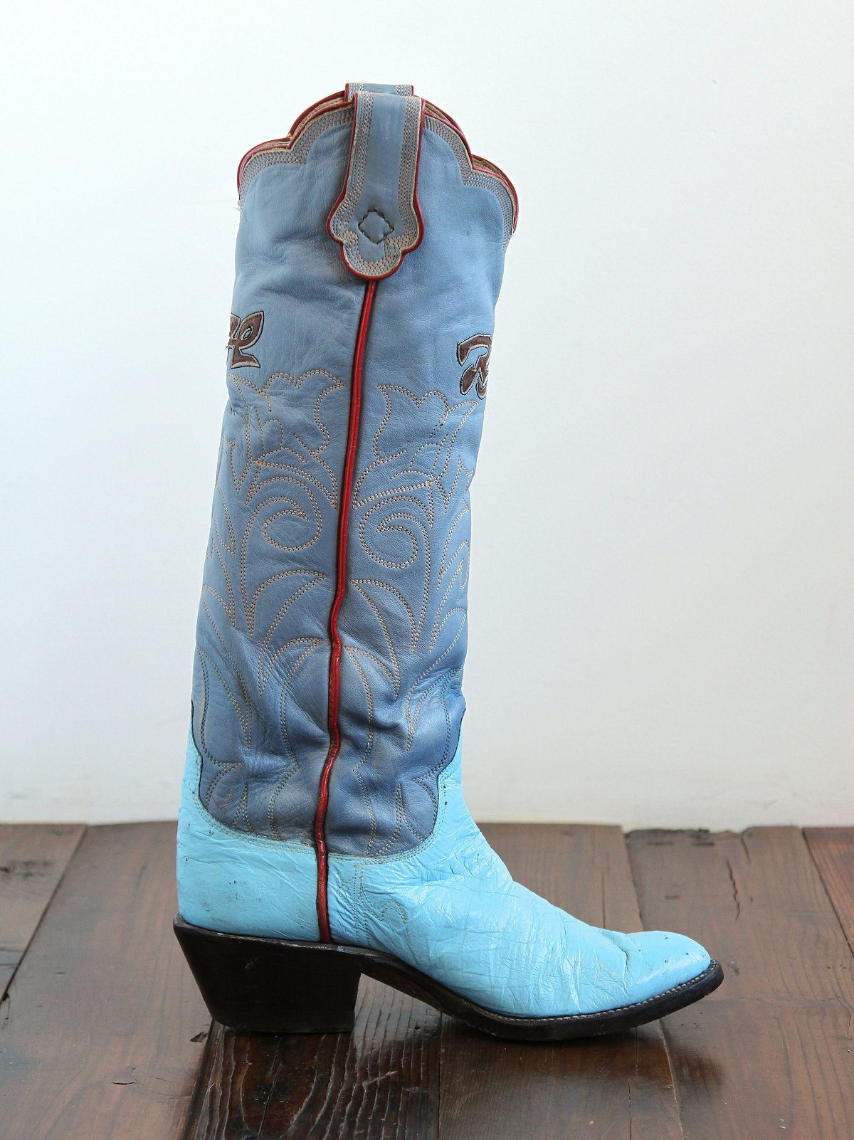 Vintage Tall Blue Western Boots