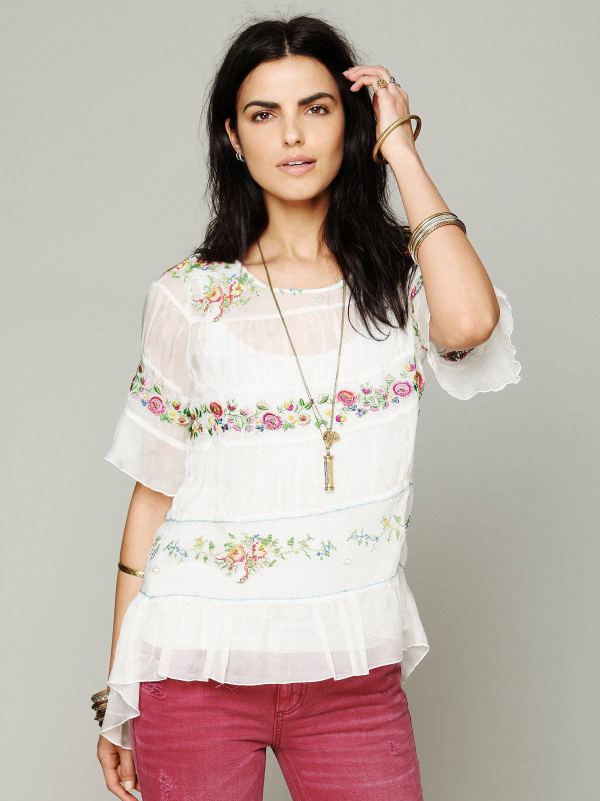 Love and Liberty Embroidered Tunic
