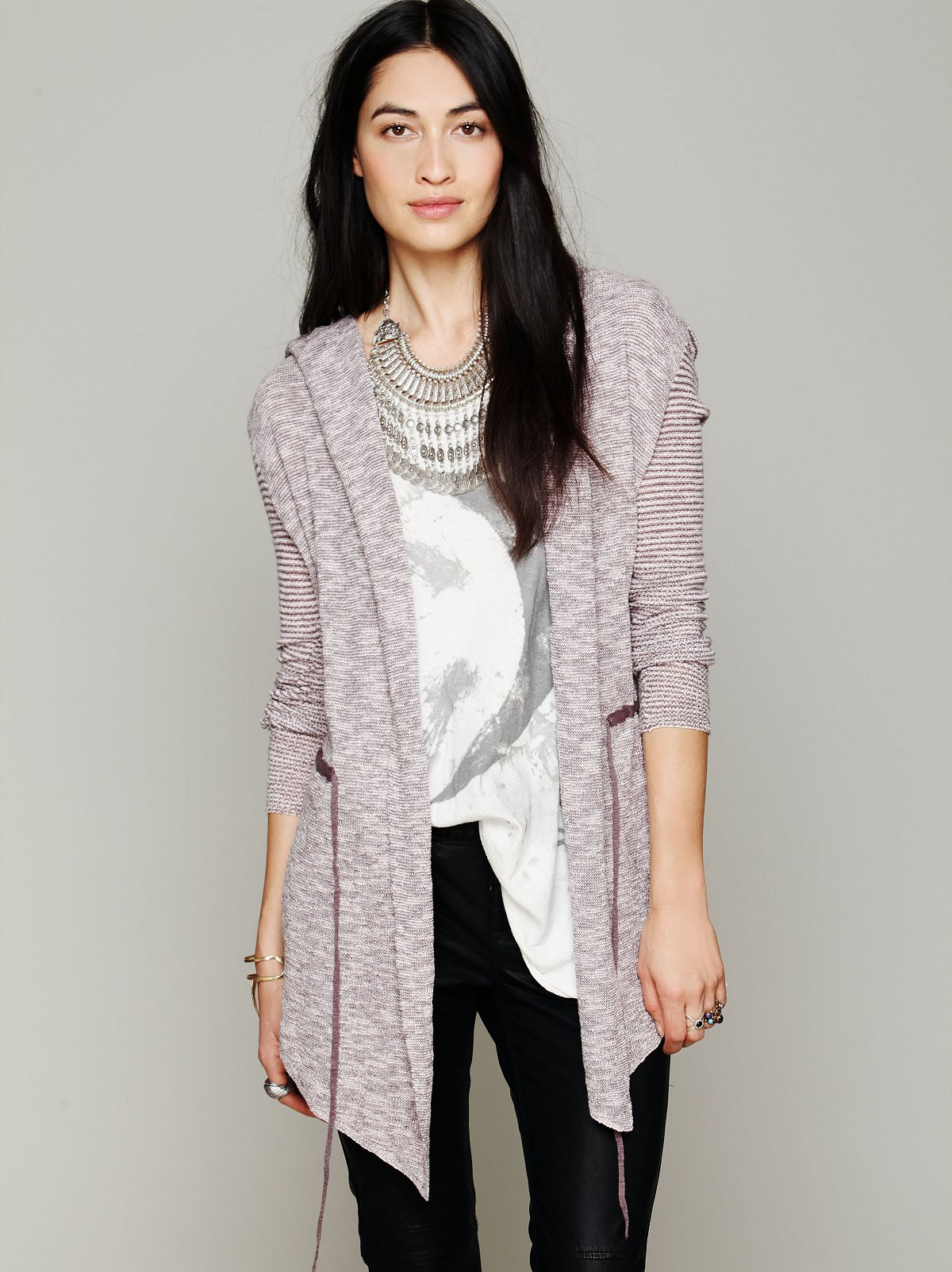 Long Mini Stripe Cardigan