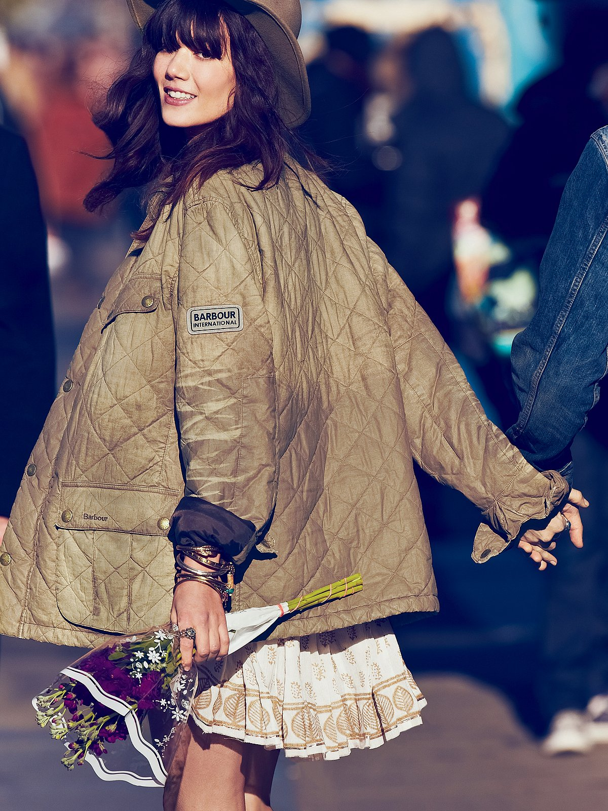 Distressed Quilted Jacket