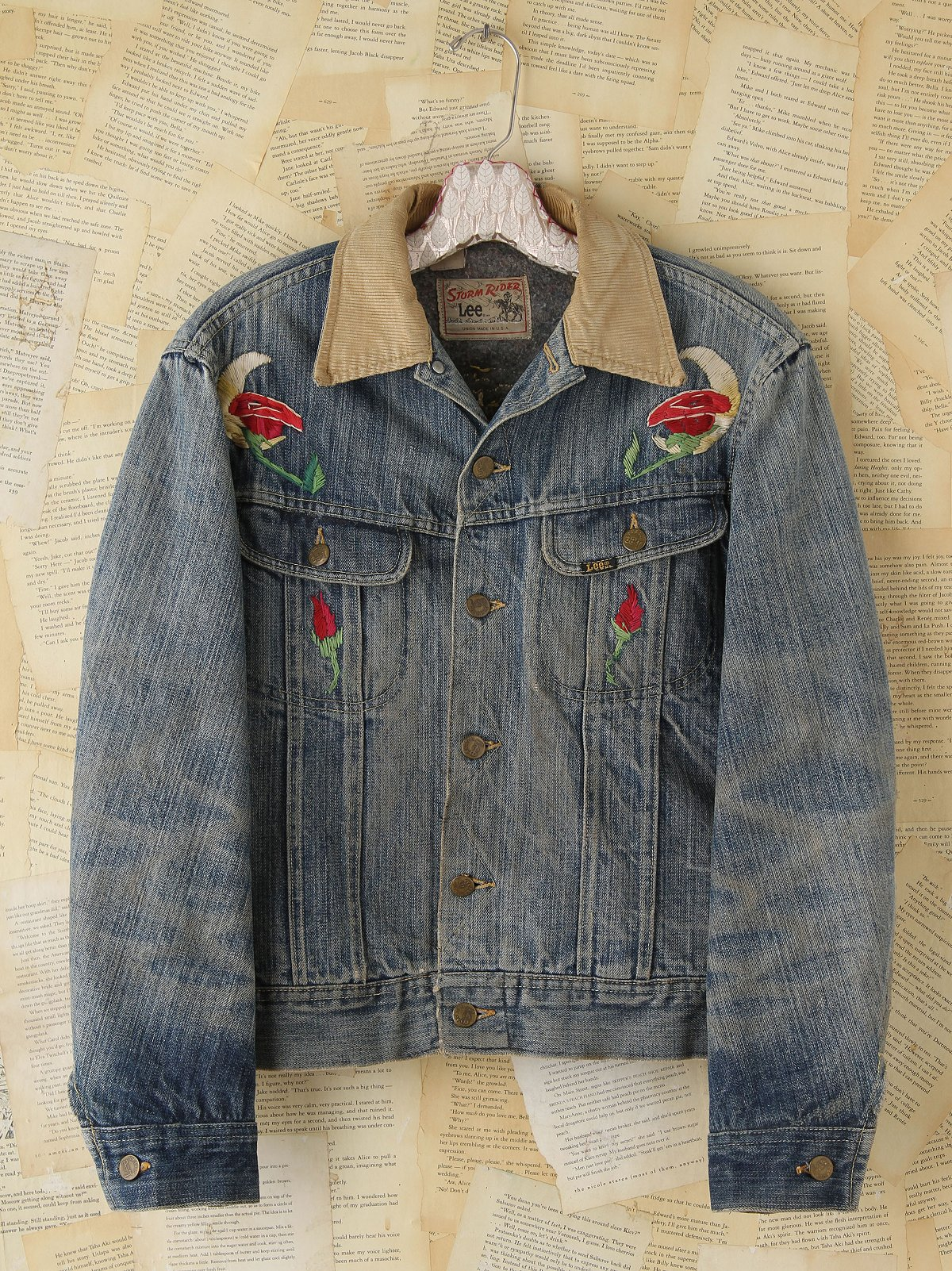 Vintage Embroidered Denim Jacket