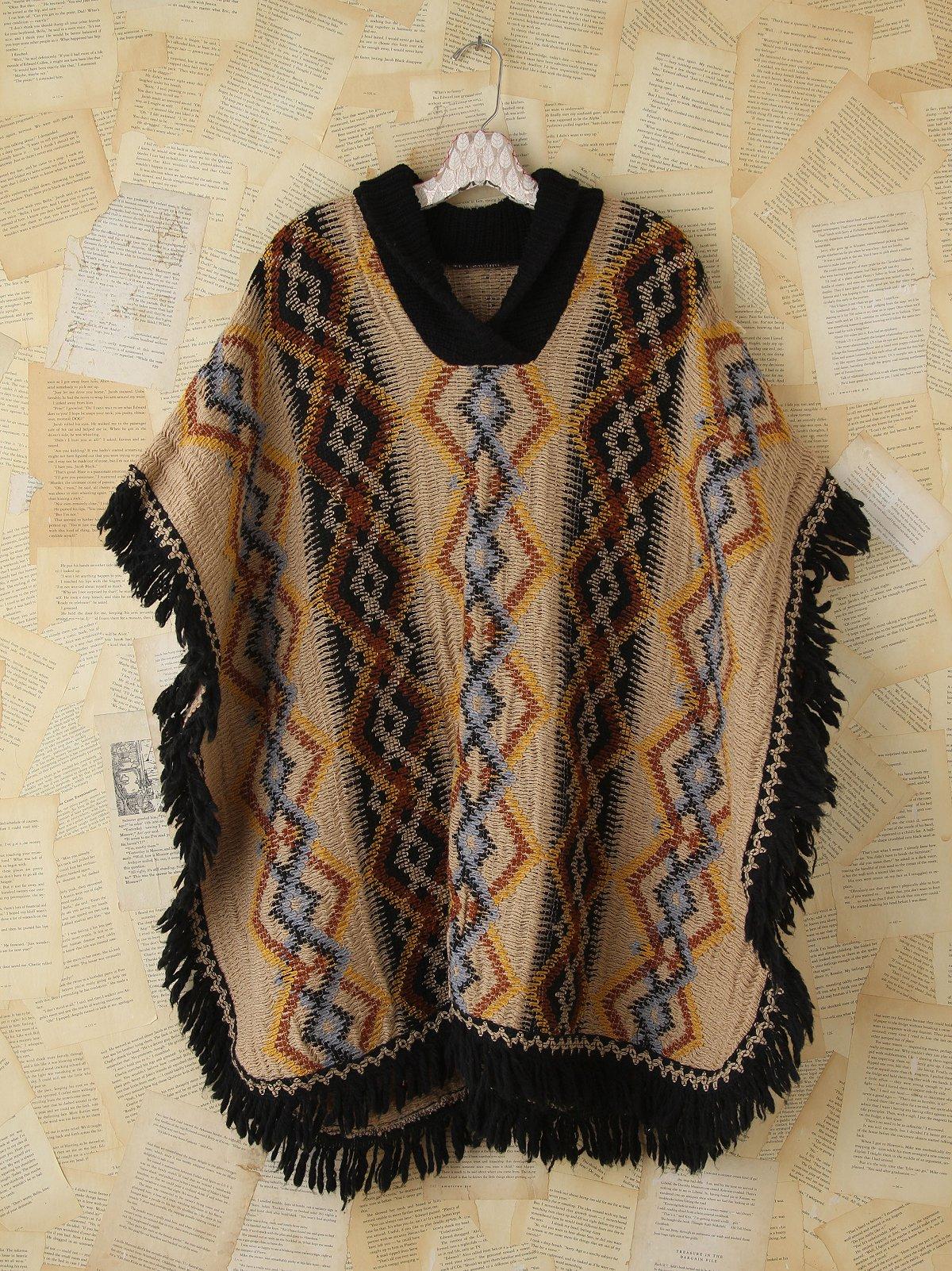 Vintage Patterned Poncho